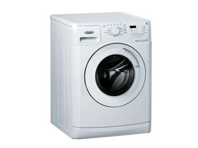 Grå Bosch vaskemaskine på en hvid baggrund